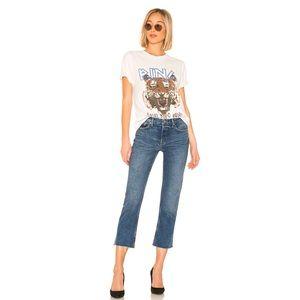 🆕 GRLFRND Tatum Mid-Rise Crop Jeans 31 FIRM